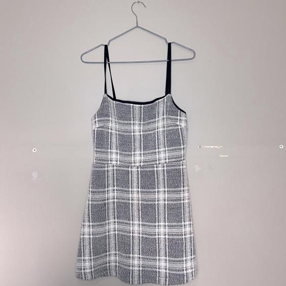 UO Cher Plaid Straight-Neck Mini Dress!